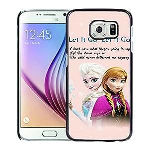Samsung Galaxy S6 Frozen Black Screen Cellphone Case Luxurious and Handmade Cover