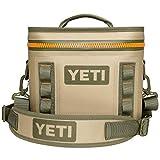 YETI Hopper Flip 8 Portable Cooler, Field Tan/Blaze Orange