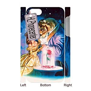 Customized Durable Case for Iphone 4,4S 3D, Beauty and the Beast Phone Case - HL-2064722