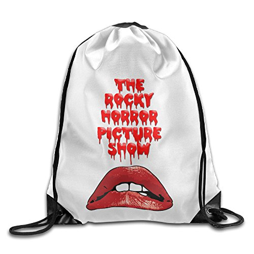 Bekey The Rocky Horror Picture Show Lips Gym Drawstring Backpack Bags For Men & Women For Home Travel Storage Use Gym Traveling Shopping Sport Yoga (Rocky Horror Picture Show Columbia Wig)