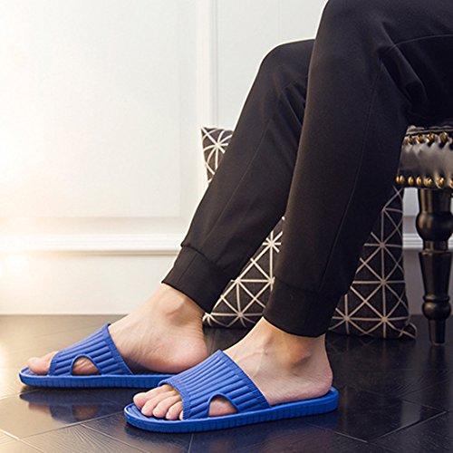 Men pour Zhuomei Blue Femme Chaussons FwBCzffqA