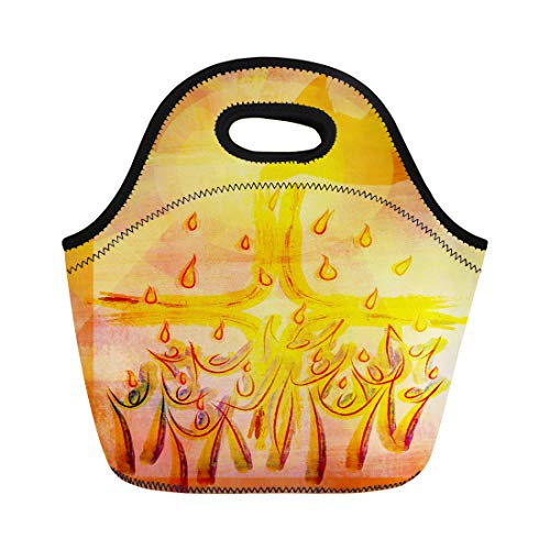 - Semtomn Lunch Tote Bag Holy Spirit Pentecost Confirmation Symbol Dove People and Tongues Reusable Neoprene Insulated Thermal Outdoor Picnic Lunchbox for Men Women