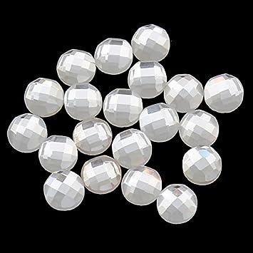 20 Glas Cabochons 6mm facettiert Kristall Schwarz Strass-Steine BEST R211