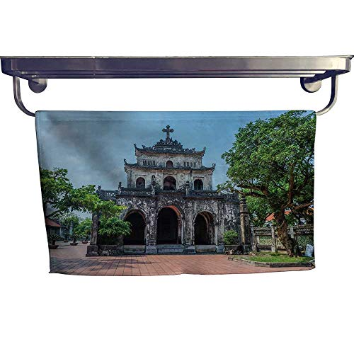 "Leigh home Sports Ttowel,Ninh Binh Vietnam nov The phat Diem Cathedral,Ultra Soft, Cozy and Absorbent W 23.5"" x L 8"""
