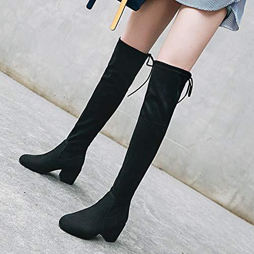 Mode Classiques Taoffen Bottes Noir Femmes Longues tFFpI