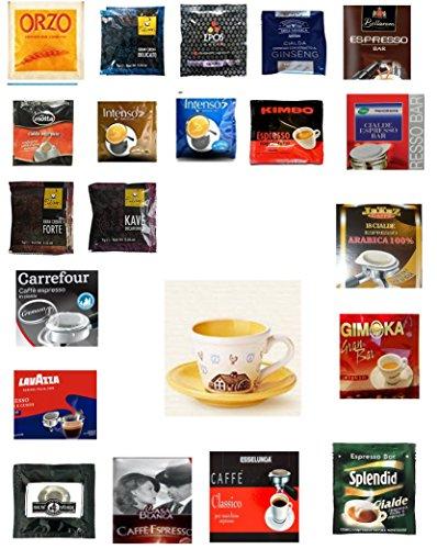 VittleItaly: #48 Espresso Grand Sampler ESE Espresso Pods 40 Count + 1 Mulino Bianco Coffee Cup [ Italian Import ] Espresso Pod Sampler