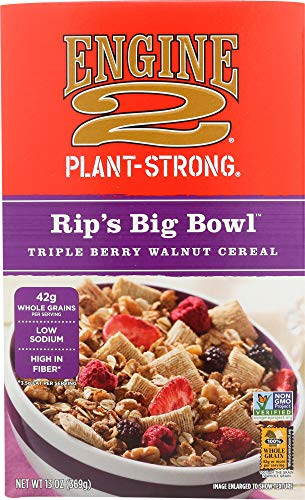 Engine 2, Rip's Big Bowl Triple Berry Walnut Cereal, 13 Ounce (Best Plant Based Cereal)
