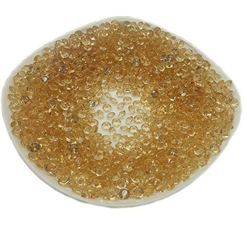 AiFanS Acrylic Diamond Gems(Gold,8mm,1000 Piece)