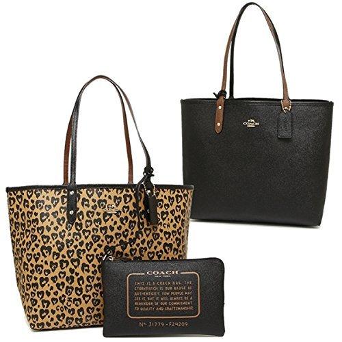 Coach 24209 Reversible City Tote PVC handbag Wild Heart Print PVC Natural - Heart Tote Bag