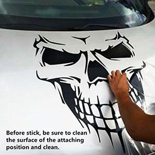 ZHUOTOP Black Skull Skeleton Car Hood Decal Rear Vinyl Side Door Sticker For Car Truck Window