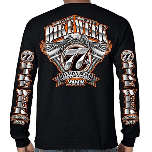 Biker Life USA 2018 Bike Week Daytona Beach Official Logo Long Sleeve T-Shirt (Daytona Bike Week 2018)