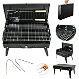 Super Deal Stainless Steel Folding Charcoal BBQ Barbecue Grill Garden Party Outdoor Camping Tool Portable Barbecue Stove