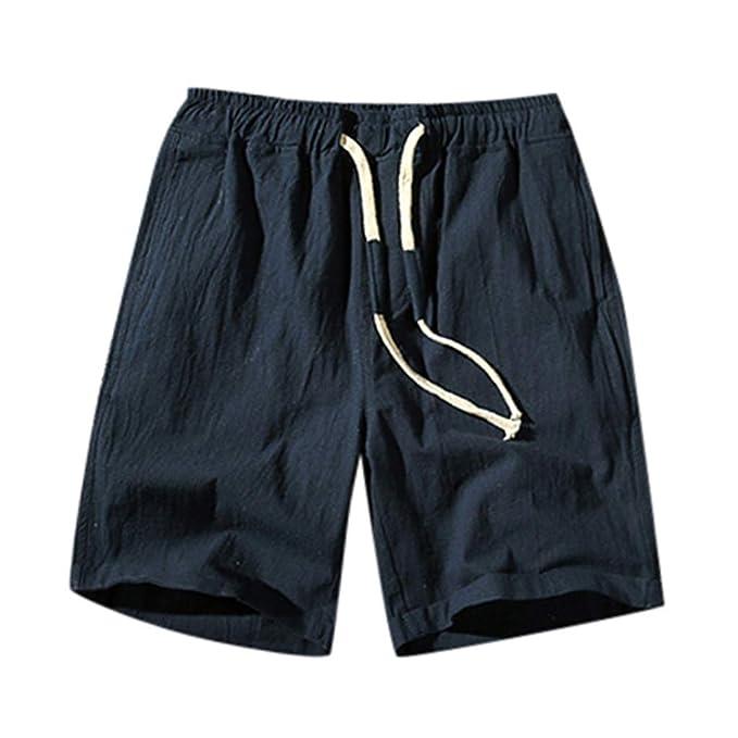 Geilisungren Pantalones Hombre, Verano Pantalones Casual ...