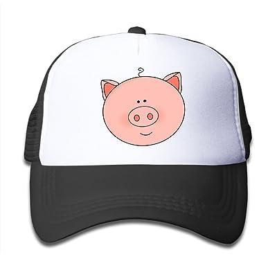 DNUPUP Kid's Cute Pig Face Cartoon Cute Adjustable Casual Cool Baseball Cap Mesh Hat Trucker Caps