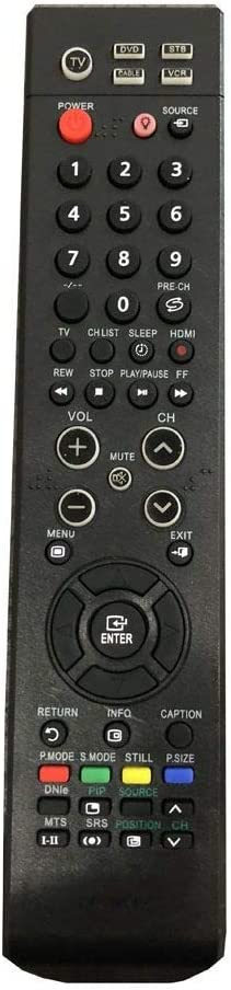 Easy Replacement Remote Conrtrol Suitable for Samsung HP-S4253 HP-S5053 HP-S6373X/XAA Plasma LCD LED HDTV