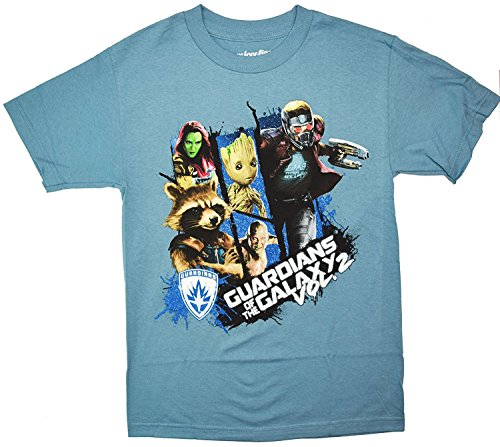 Guardians Of The Galaxy Vol. 2 Group T-shirt (Extra Large , Slate)