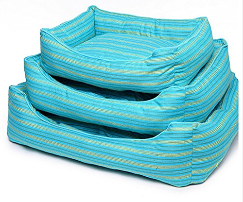 Medium RUNWEI Teddy Pet Nest Removable And Washable Kennel Cat Litter Soft And Comfortable Pet Bed (Size   M)