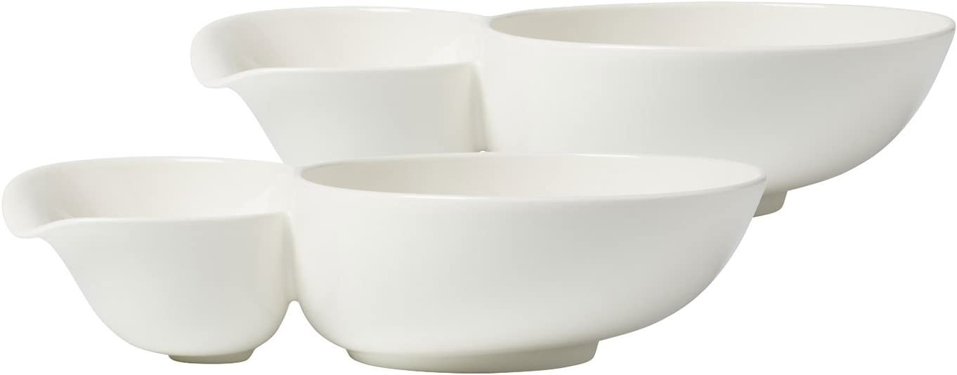 Soup Passion Large Soup Bowl Set of 2 by Villeroy & Boch- Premium Porcelain - Made in Germany - Dishwasher and Microwave Safe - 10.75 x 6.75 x 2.5 Inches