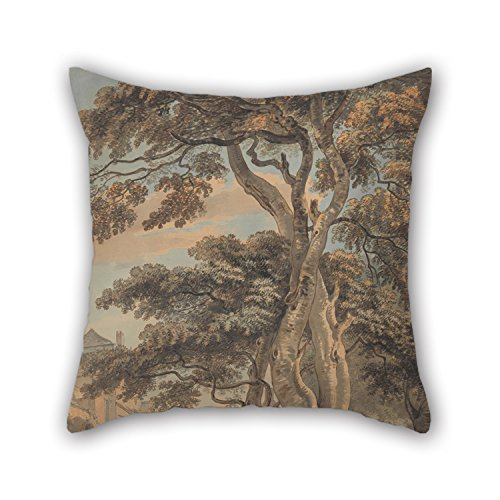 PILLO Pillowcase Of Oil Painting Paul Sandby - Couple In A Farmyard,for Bf,pub,kitchen,study Room,valentine,kids Girls 20 X 20 Inches / 50 By 50 Cm(each Side)