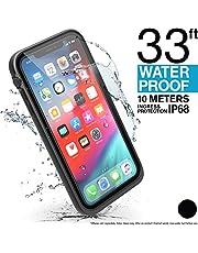 Catalyst Funda Impermeable para iPhone XS MAX con acollador, Prueba de caídas Prueba a Prueba de caídas Calidad de Material Militar para Excursionismo, natación, Kayak: Negro sigiloso