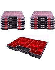 Sortimentlåda plast sortiment låda NORP 16 tum set med 10 mått ca 400 x 300 x 50 mm