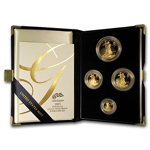 2005 W 4-Coin Proof Gold American Eagle Set (w/Box & COA) Brilliant Uncirculated ()