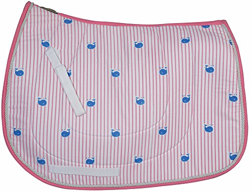 Equine Couture Stripe Whales All Purpose Saddle - Stripes Saddle Pad