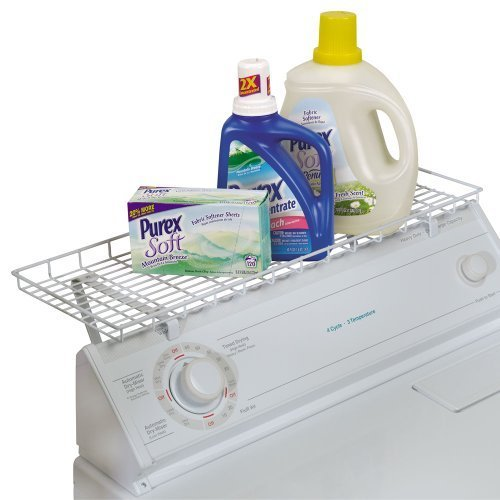 Household Essentials Over-The-Washer Storage Shelf, White (2 Pack) (Over The Washer Laundry Shelf compare prices)