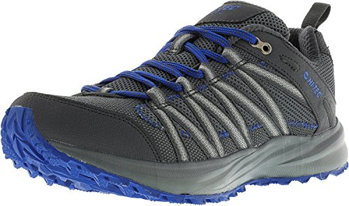 Hi Tec Walking Shoes - Hi-Tec Men's Sensor Lite Trail Runner, Graphite/Cobalt, 8 D US