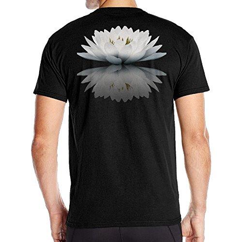 Aoaoozu8 Mens Beautiful Snow Lotus Reflection Cool T Shirt Black Size 3X