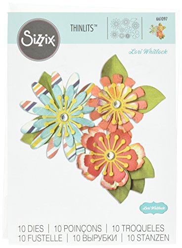 Ellison Sizzix Mix & Match Flowers Thinlits Die Set by Lori Whitlock (10 Pack) (Match Hipster)