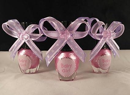 Amazoncom Lavender Bow White Polka Dots Baby Girl Pink Nail