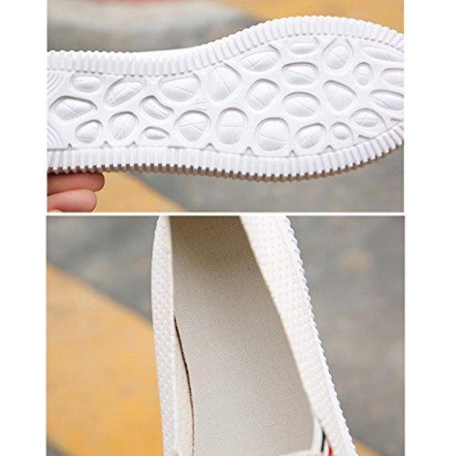 Freien Schuhe Damen Pantoffels Atmungsaktiv Sommer Schwarz Weiß im Flach Mädchen Weiß Faulen Aushöhlen Sandalen LHWY Teen Runde Kappe Frauen Plattform Slipper Freizeitschuhe Des 15qzHz