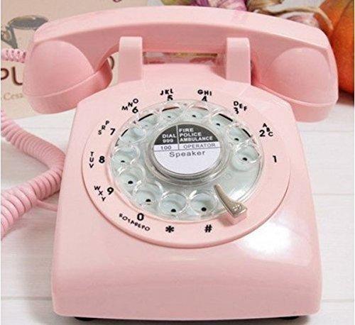 (VIVISKY Classic 1960's Design Rotary Retro Rotary Dial Bell Desk Telephone)