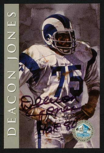 Deacon Jones Autographed 1998 HOF Signature Series Card Los Angeles Rams