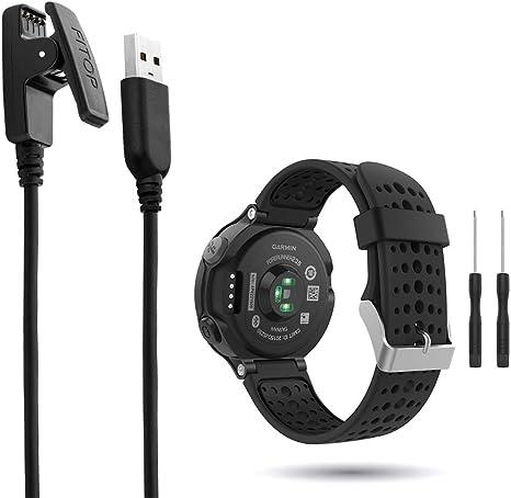 1 Cable de Carga para Garmin Forerunner 235/735xt, añade 1 Correa Negra para Reloj Inteligente Forerunner 235 735: Amazon.es: Electrónica