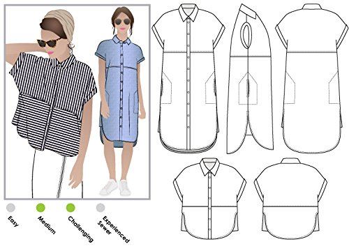 Style Arc Sewing Pattern - Blaire Shirt or Dress (Sizes 04-16) - Click for Other Sizes Available