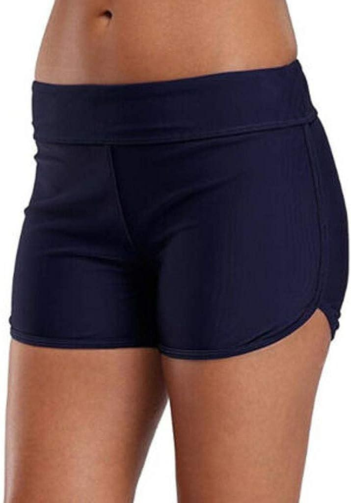 OSTELY Women Black Blue Elasticity Swim Bikini Bottom Tankini Shorts Swimwear Beach