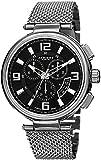 Akribos XXIV Men's AK772SSB Swiss Chronograph Quartz Movement Watch with Black Dial and Stainless Steel Bracelet