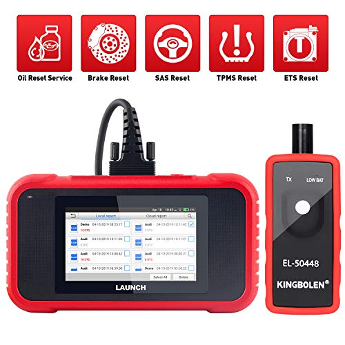 LAUNCH OBD2 Scanner CRP129E Engine/ABS/SRS/Transmission 4 Systems Diagnostic Tool with Oil lamp/EPB/SAS/TPMS/TPS Reset,Diagnostic Report Generate/Share,One-Click WIFI Free Update + TPMS Tool EL-50448 ()