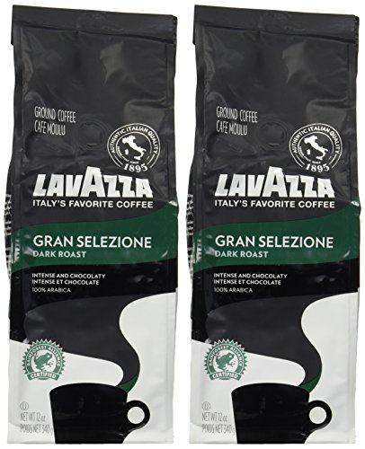 Lavazza Gran Selezione Dark Roast Ground Coffee 12oz – Pack of 2