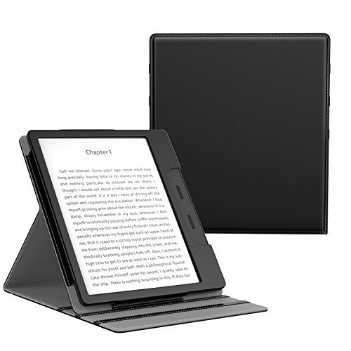 MoKo Case for All-New Kindle Oasis (9th Generation, 2017 Release ONLY) - Multi Angle Viewing Vertical Flip Cover with Auto Wake / Sleep for Amazon 7'' Kindle Oasis E-reader Case, BLACK by MoKo