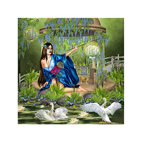 (BeautyShe DIY 5D Diamond Painting by Number Kit for Adult, Full Drill Diamond Embroidery Dotz Kit Home Wall Decor-11.8 x 11.8 inch)
