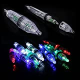 Green 12cm Waterproof 4 Colors 12cm/17cm LED Deep Drop Fishing Underwater Fish Lure Light