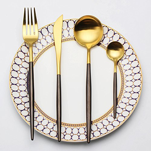 stainless steel flatware set including