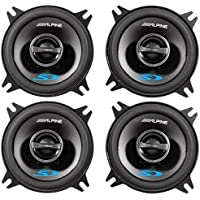 (2) Pairs of Alpine SPS-410 4 2 Way Car Speakers Totaling 560 Watt Peak / 180 Watt RMS