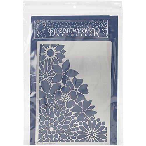 Embossing Metal Stencil (Stampendous Dreamweaver Metal Stencil, Corner Flowers)