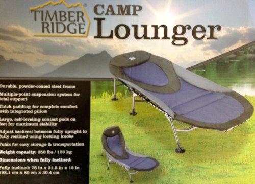 Amazon Com Timber Ridge Camp Lounger Camping Chairs Sports