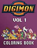 DIGIMON: Coloring Book for Kids and Adults - 80 illustrations (Volume 1)