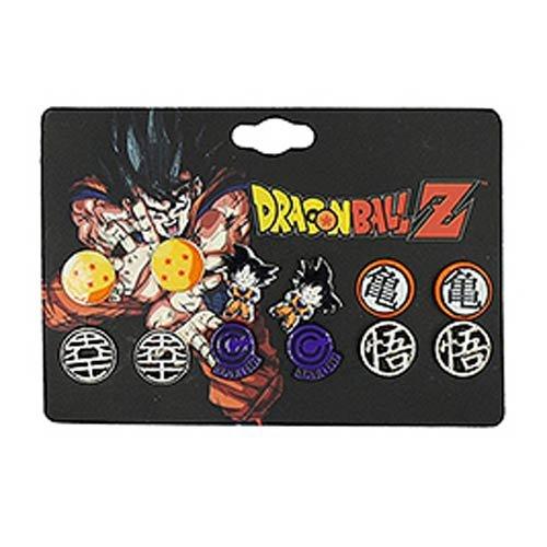 Dragon Ball Z Anime 6-Pack Stud Earring Set